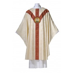 Chasuble Deerdamask - 'Lamb of God'