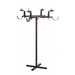 Adjustable support for advent wreath