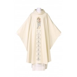 Chasuble de la Sainte Vierge et l'Enfant