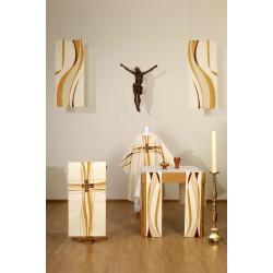 Paar altaar lopers, afmetingen 23 cm x 257 cm