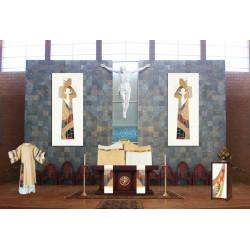 Paar altaar lopers, afmetingen 23 cm x 257 cm - Bernini 415 collectie