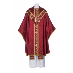Chasuble - JHS with embroidered monogram
