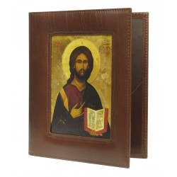 Lectionary cover with icon